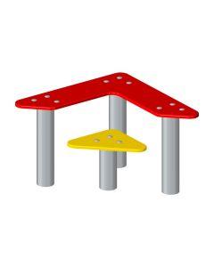 Pöytä ja penkki, kolmio