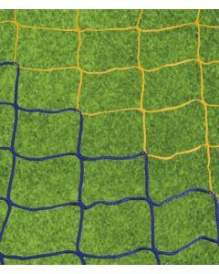 Jalkapalloverkko, kelta/sininen