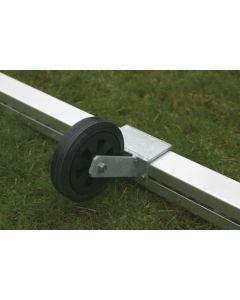 Kuljetuspyörä takarautaan 80 x 80 mm
