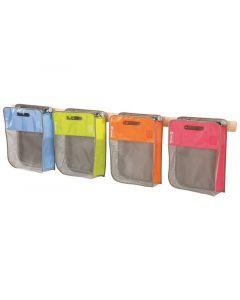 Maxipakkaus: 4 laukkua ja seinätelineet
