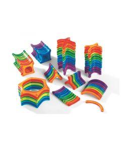 Magneettirakennussarja eri muodot 100 osaa