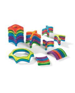 Magneettirakennussarja eri muodot 48 osaa