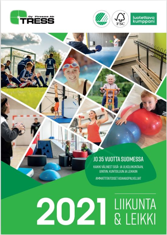 Tressin liikunta- ja leikkivälineet 2019 kuvasto